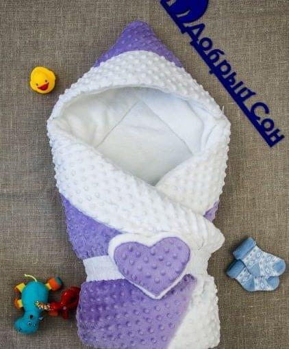 конверт одеяло для малышей сердечко фото