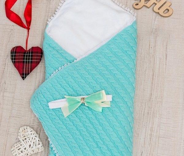 вязанный с махрой конверт одеяло фото